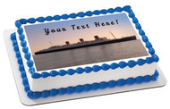 Queen Mary Sister Ship of the Titanic - Edible Cake Topper OR Cupcake Topper, Decor
