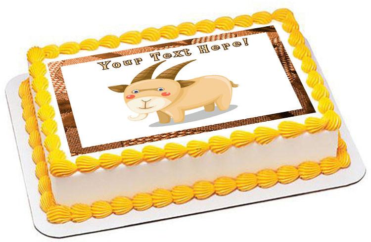 Goat Edible Birthday Cake Topper