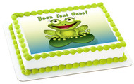 Frog - Edible Cake Topper OR Cupcake Topper, Decor