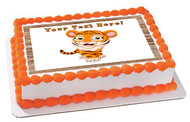 Funny Baby Tiger - Edible Cake Topper OR Cupcake Topper, Decor