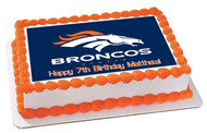 Denver Broncos (Nr2) - Edible Cake Topper OR Cupcake Topper, Decor