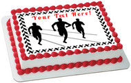 Track and Field Athletes - Edible Cake Topper OR Cupcake Topper, Decor