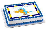 Talking Bird - Edible Cake Topper OR Cupcake Topper, Decor
