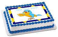 Talking Bird - Edible Cake Topper OR Cupcake Topper, Decor