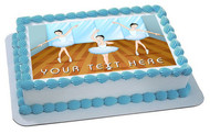 Ballet dancers dancing - Edible Cake Topper OR Cupcake Topper, Decor