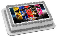 POWER RANGERS Megaforce Edible Birthday Cake Topper OR Cupcake Topper, Decor