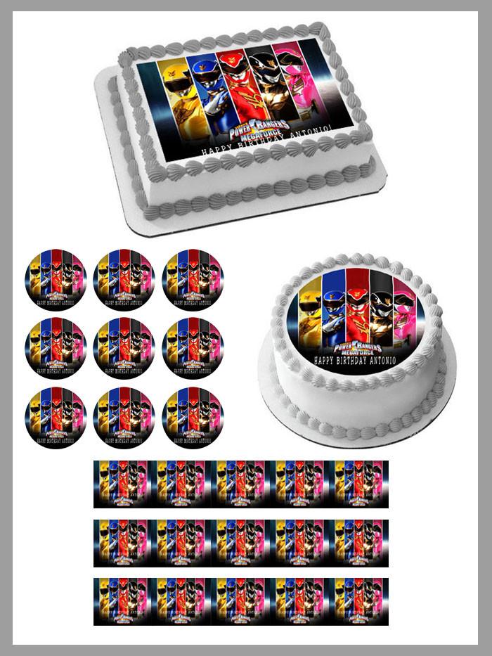 Superb Power Rangers Megaforce Edible Birthday Cake Topper Funny Birthday Cards Online Inifodamsfinfo