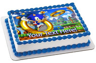 Sonic the Hedgehog - Edible Cake Topper OR Cupcake Topper, Decor