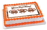 The Monkeys Faces - Edible Cake Topper OR Cupcake Topper, Decor