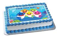 Baby Shark - Edible Cake Topper OR Cupcake Topper, Decor