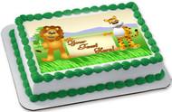 Lion and Tiger Cartoon - Edible Cake Topper OR Cupcake Topper, Decor