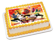 POWER RANGERS Samurai Edible Birthday Cake Topper OR Cupcake Topper, Decor