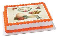 Vintage Easter - Edible Cake Topper OR Cupcake Topper, Decor