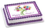 Easter Tree - Edible Cake Topper OR Cupcake Topper, Decor