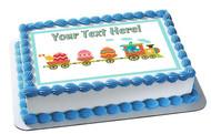 Easter Train - Edible Cake Topper OR Cupcake Topper, Decor