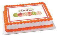 Happy Easter (Nr2) - Edible Cake Topper OR Cupcake Topper, Decor