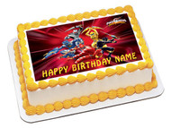 POWER RANGERS Edible Birthday Cake Topper OR Cupcake Topper, Decor