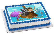 Lion Pirate Adventure Fantasy Cartoon - Edible Cake Topper OR Cupcake Topper, Decor