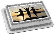 Namaste Yoga - Edible Cake Topper OR Cupcake Topper, Decor