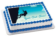 Rock Climber - Edible Cake Topper OR Cupcake Topper, Decor