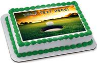 Golf Ball Near Hole - Edible Cake Topper OR Cupcake Topper, Decor