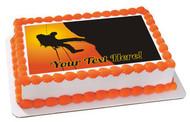 Mountain Climbing - Edible Cake Topper OR Cupcake Topper, Decor