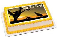 Koala and Kangaroo - Edible Cake Topper OR Cupcake Topper, Decor