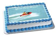 Jet Ski Drive - Edible Cake Topper OR Cupcake Topper, Decor