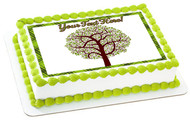 Tree Nature Symbol - Edible Cake Topper OR Cupcake Topper, Decor