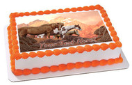 Wild Horses - Edible Cake Topper OR Cupcake Topper, Decor