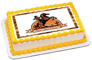 Cowboy Ride a Horse - Edible Cake Topper OR Cupcake Topper, Decor