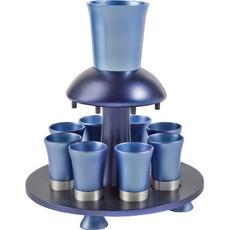 Yair Emanuel Blue Anodized Aluminum Kiddush Fountain