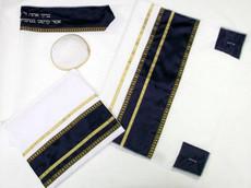 Pisgah Black and Gold Tallit Set
