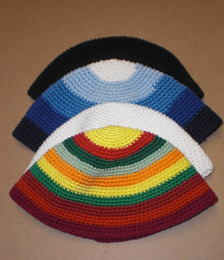 """Freaky"" Crocheted Kippah"