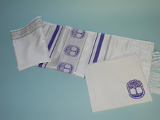 Ziontalis Tree of Life Violet Tallit Set