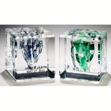 Square Beveled Block Break Glass Cube