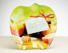 Rosh Hashana Apple Shaped Glass Apple Plate