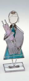 Stained Glass Designs Bat Mitzvah Glass Figurine