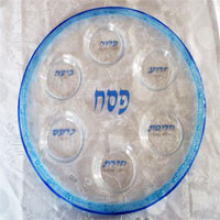 Itai Mager Glass Seder Plate