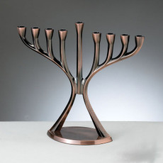 Post Modern - Antique Copper Menorah