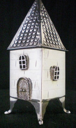 Sterling Silver House Spice Box