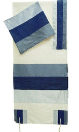 Multi Blue Blocks Tallit Set