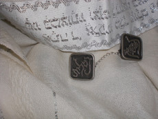 Pewter Diamond Shaped Tallit Clips