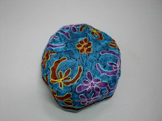 Small Bright Blue Bukharin Kippah