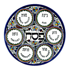 Armenian Ceramic Seder Plate Set With Cups