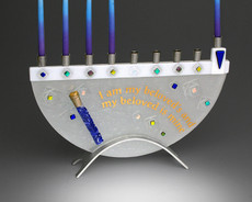 Beames Designs Beloved Break Glass Menorah