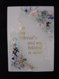 Beames Designs Fused Glass Beloved Plaque