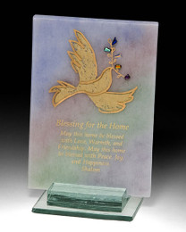 Beames Designs Fused Glass Free Standing Home Blessing