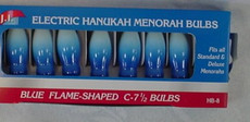 Blue Flame Chanukah Menorah Bulbs