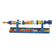 Yair Emanuel Jerusalem Motif Torah Pointer with Stand